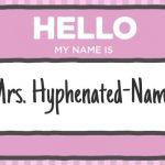 Why I'm Hyphenating my Last Name