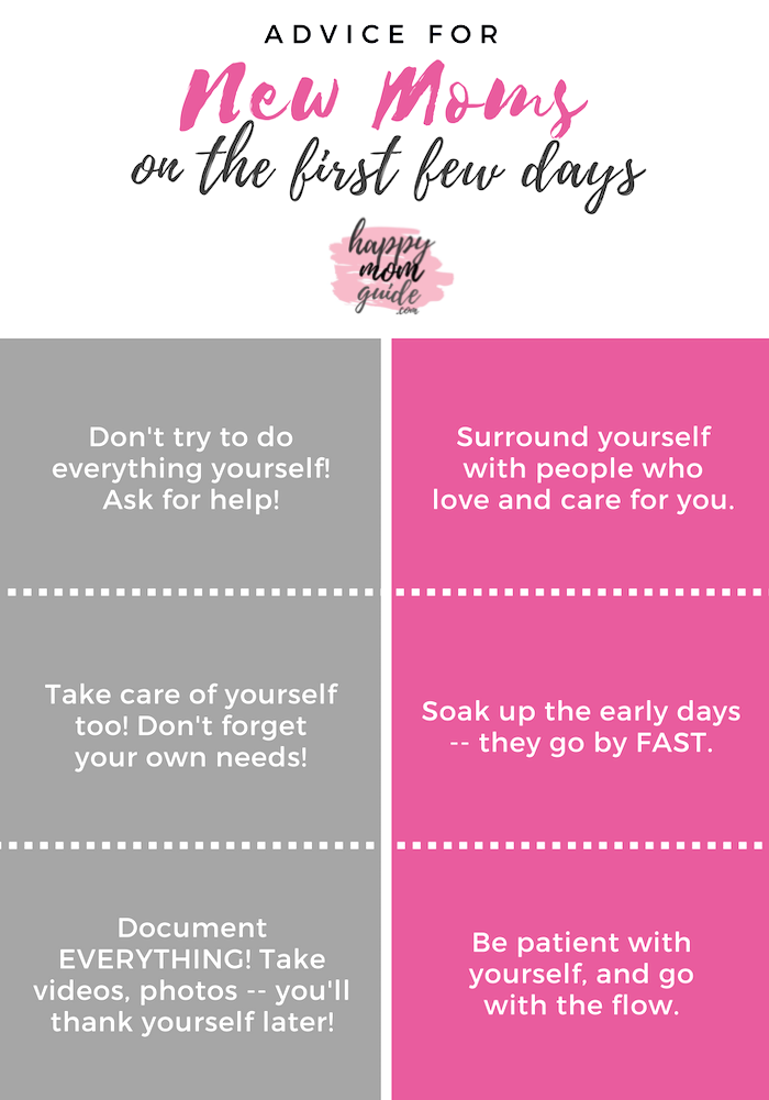 Advice for New Moms on the First Few Days