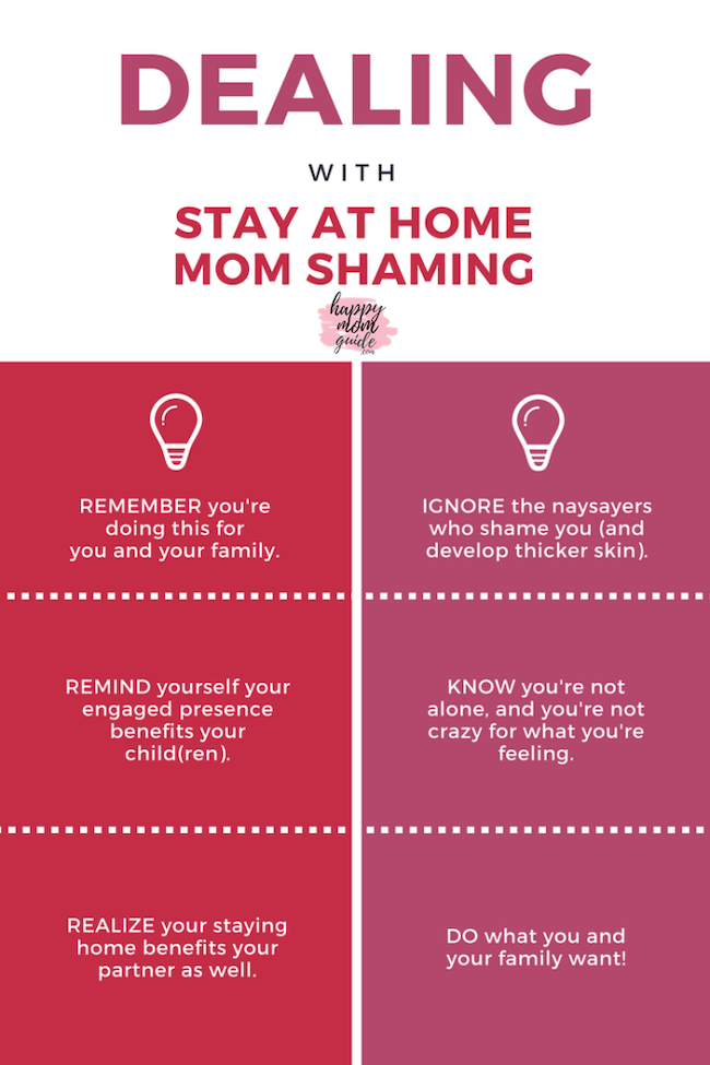 Tips for dealing with stay at home mom shaming